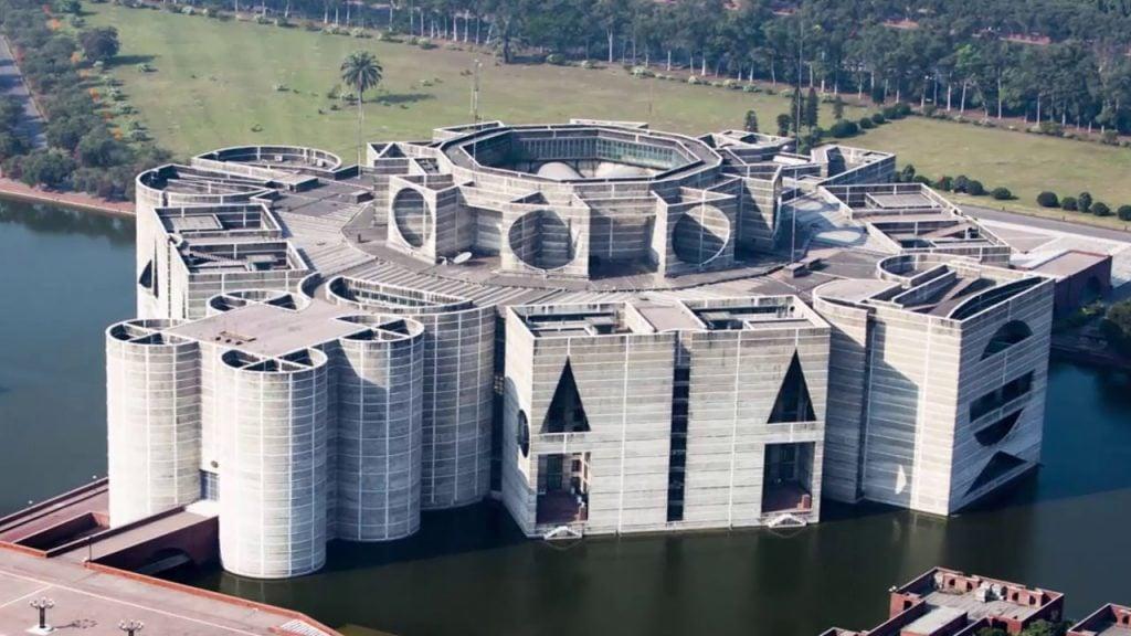 National Parliament building of Bangladesh