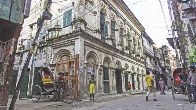 Streets of Dhaka; Hrishikesh Das Road old Dhaka