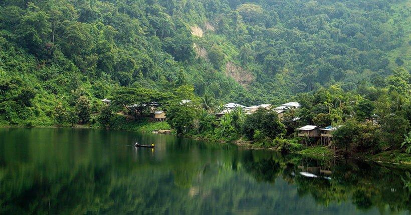 indigenous people Boga Lake