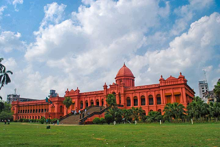 Ahsan Manzil view from bottom