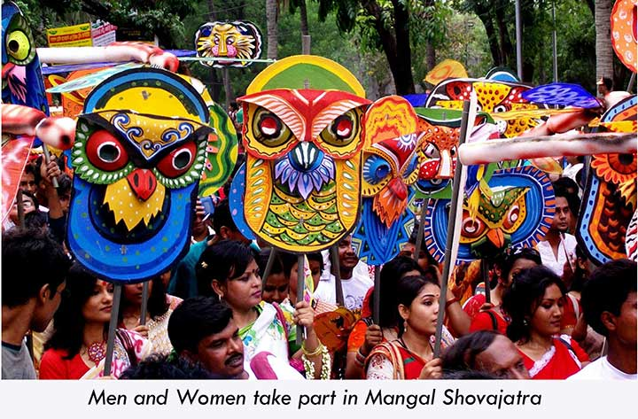 Bengali Men and Women at Mangal Shovajatra
