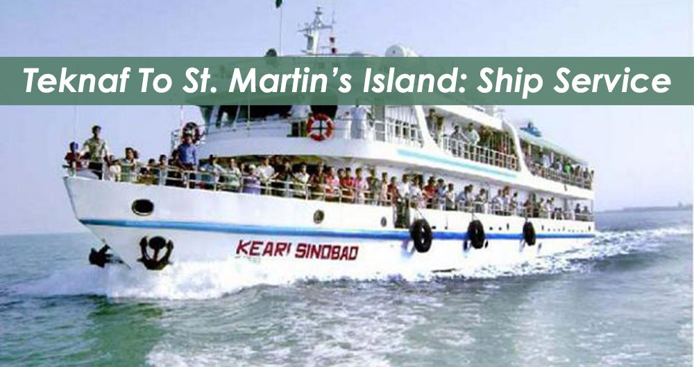 teknaf to St. Martins Island ship service