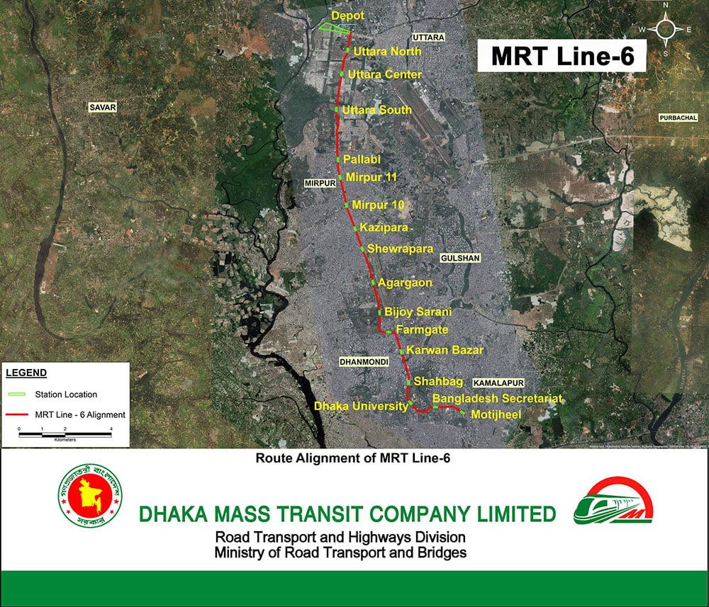 MRT Line-6 Route