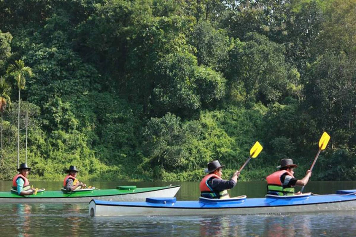 Kayaking In Mahamaya Lake